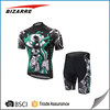 Fully customisable sublimation cartoon cycling jersey and shorts cycle wear
