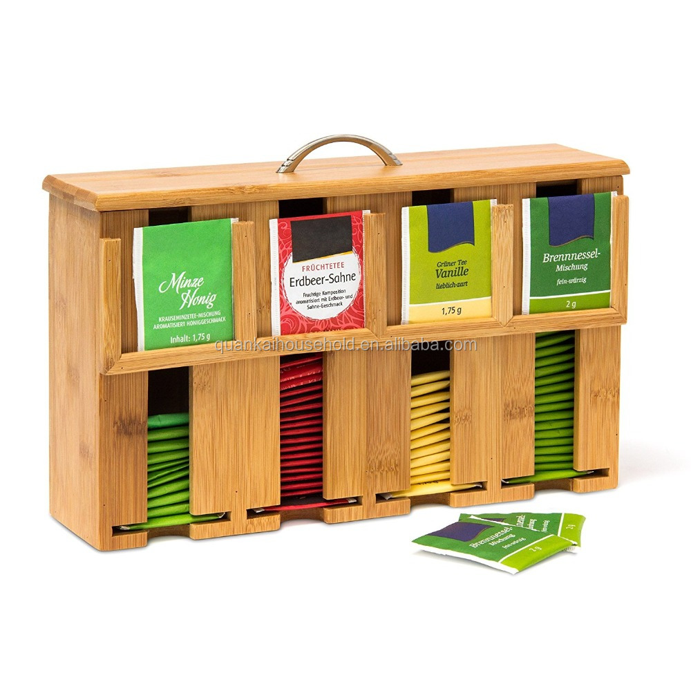 Bamboo Tea Bag Dispenser Box Wooden Product On Alibaba