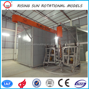 SHUTTLE ROTO MOLDING MACHINE