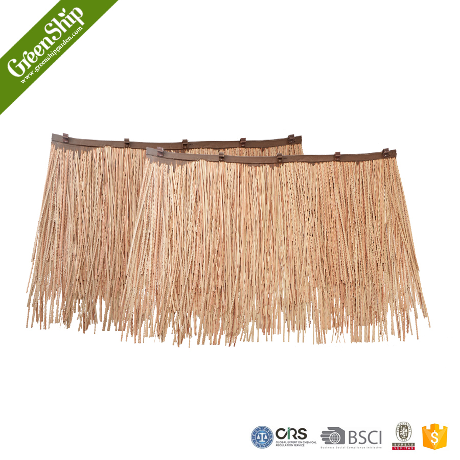 Outdoor thatch roof sheet from GreenShip/man-made grass mat/weather resistant/ eco-friendly