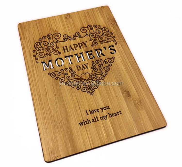 Groothandel moederdag souvenir laser gesneden houten moeders dag geschenken goedkope