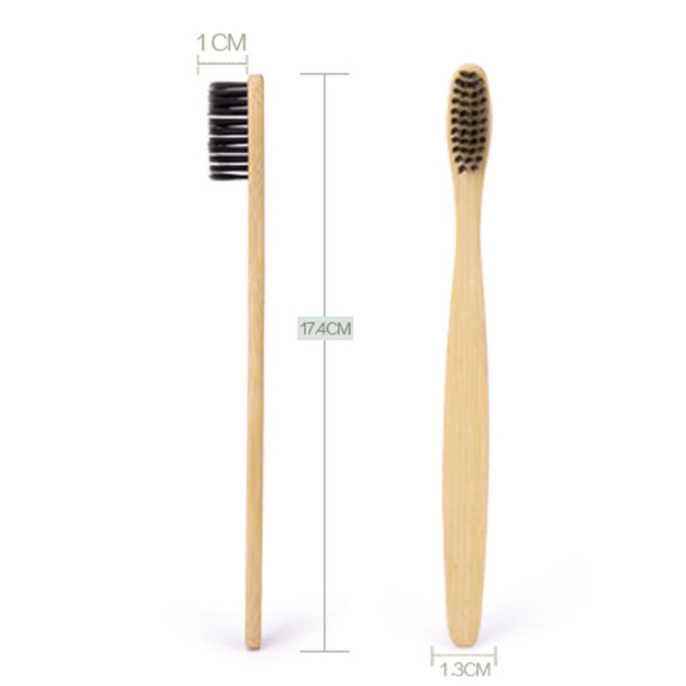 Alibaba.com / Eco-Friendly Natural Bamboo Toothbrush with Soft Charcoal Bristles Ergonomic Handle Arc Head