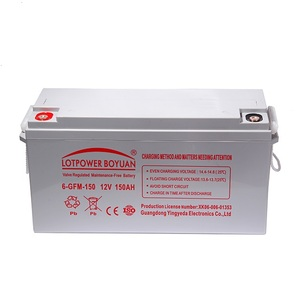 high rate wet battery capacity 12v 150ah solar lead acid battery high efficiency light weight solar panel battery