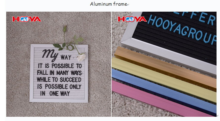 double sides felt letter board,one side is felt letter board another side is blackboard