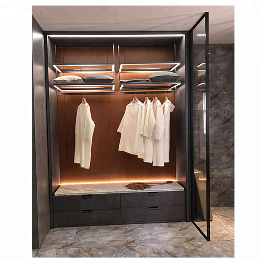 China factory italy style aluminum closet doors with pivot hinge