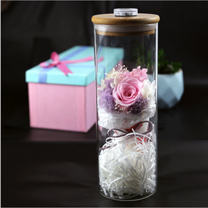 High Quality Real Fresh Eternal Roses Preserved Flower Artificial Preserved Beautiful Flowers Rose With LED Light