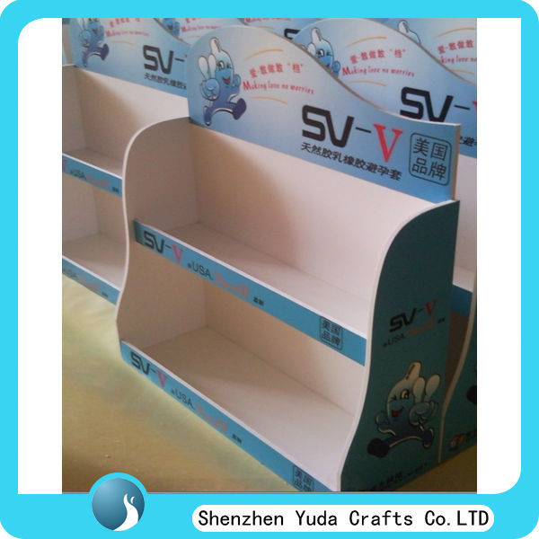 Fabricated Acrylic Pop Display Rack For Condom Display Stand For ...