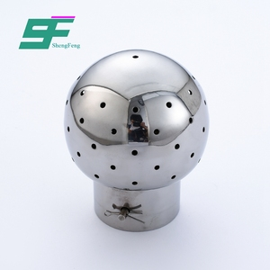 Shengfeng hygienic ss316 1''-6'' weld fixed cleaning ball for beer tank