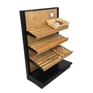 Double sided grocery store retail display stand racks gondola shelving island supermarket shelf