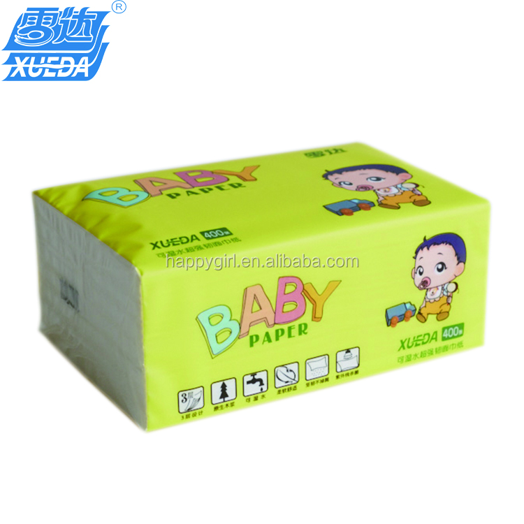 Super soft and strong facial tissue 3ply 140mm x 180mm nice design colorful, not dissulution in water, made in China, White
