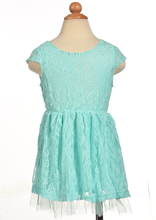 Cute Baby Girls Lovely O neck Cap Sleeve Elastic Waist Lace Net Yarn Hem font b