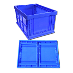 Size 600*420*320 MM foldable stackable plastic PP transpack storage crate container