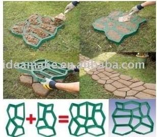 pavimento de hormign de plstico del molde de bricolaje de jardn para