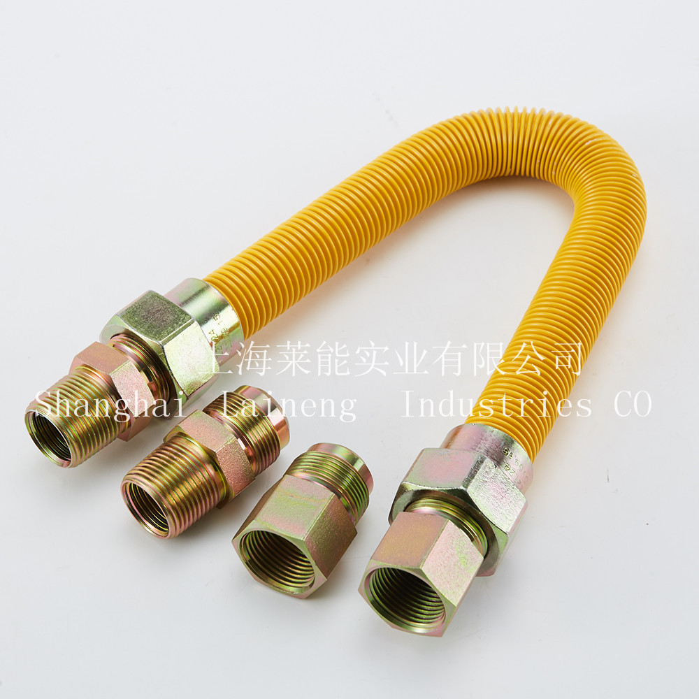 CSA Pro-coated GAS CONNECTOR SS 304 FLEXIBLE GAS HOSE natural gas pipe