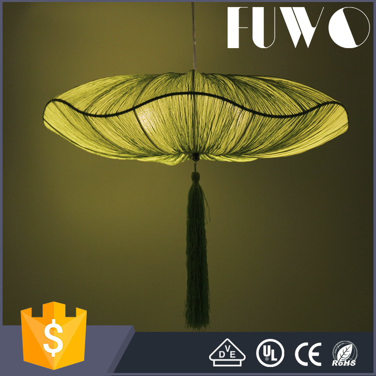 European Style green Lotus Leaf shape Pendant Chandelier Light For Decoration