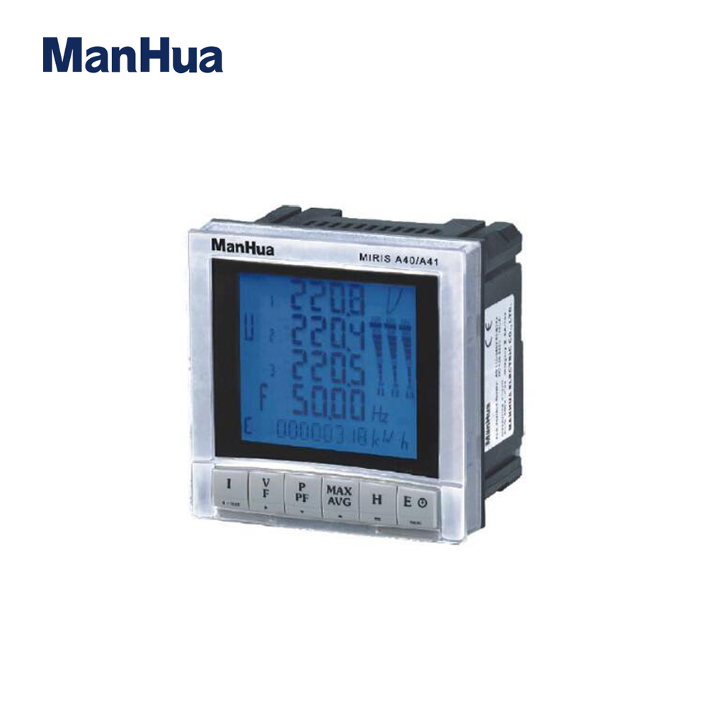 Manhua MIRIS A40/A41 LCD 400g Panel Mounting Multi-Function Digital energy <strong>meter</strong>