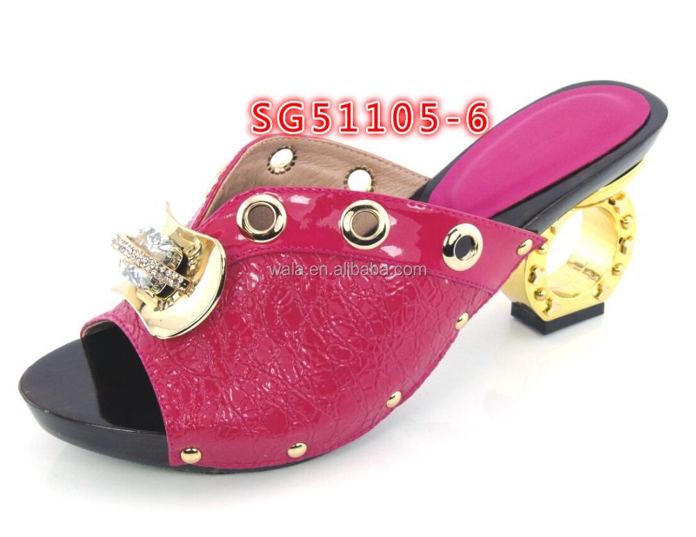 mid red heel rhinestone slipper shoe for SG51105 shoes ladies african italian 4 wholesale ZvnxO1Z