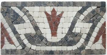 Leaf Red 4x8inch Marble Mosaic Border Listello Tile Tumbled