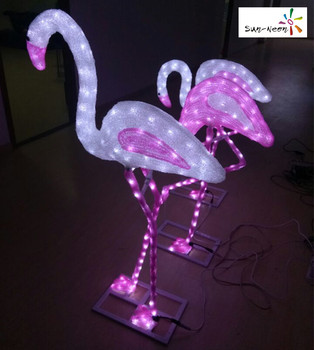 lowes outdoor christmas decorations garden decor pink flamingo - Flamingo Christmas Decorations