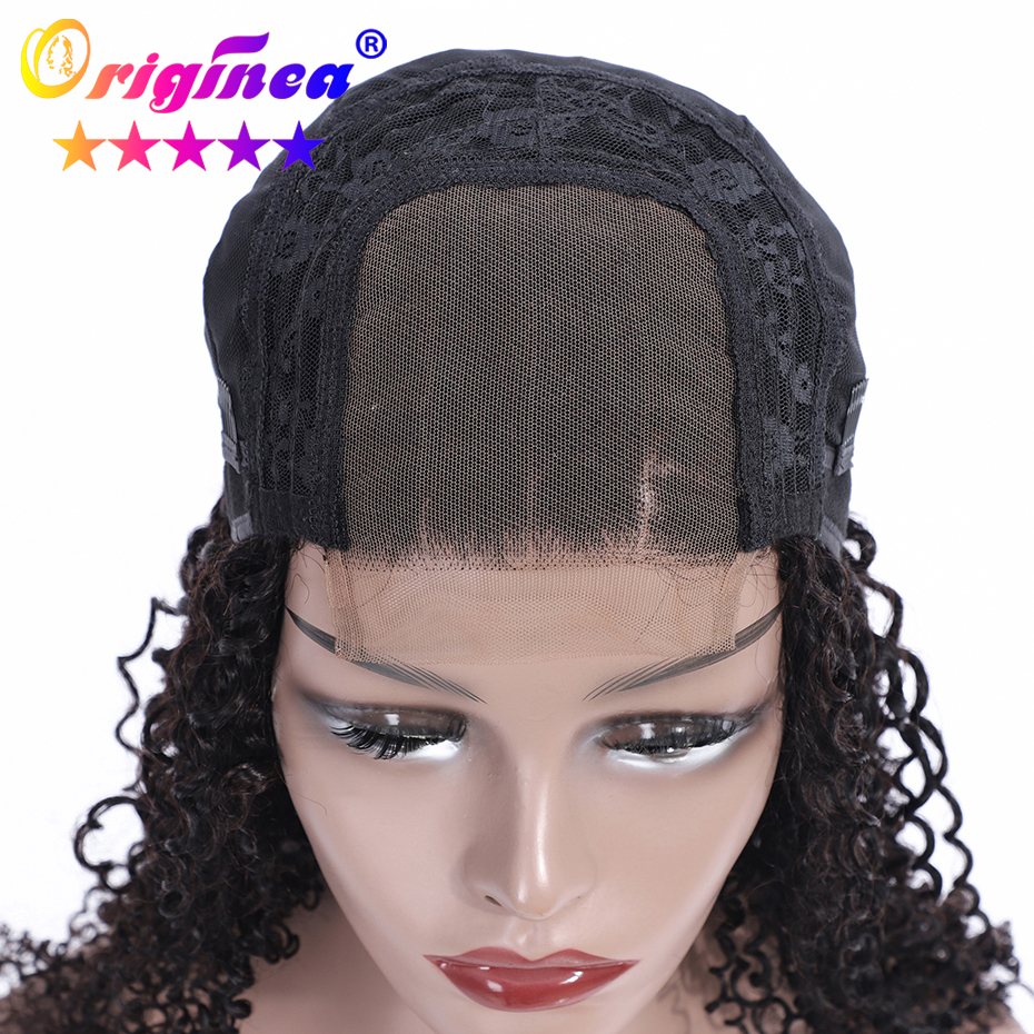 Cheap Brazilian human hair Jerry Curly lace front wig with baby hair фото