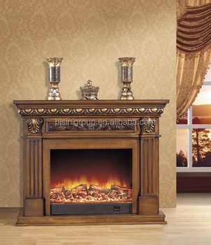 Classic Adjustable Fake Decor Frame Electrical Fireplace Wooden