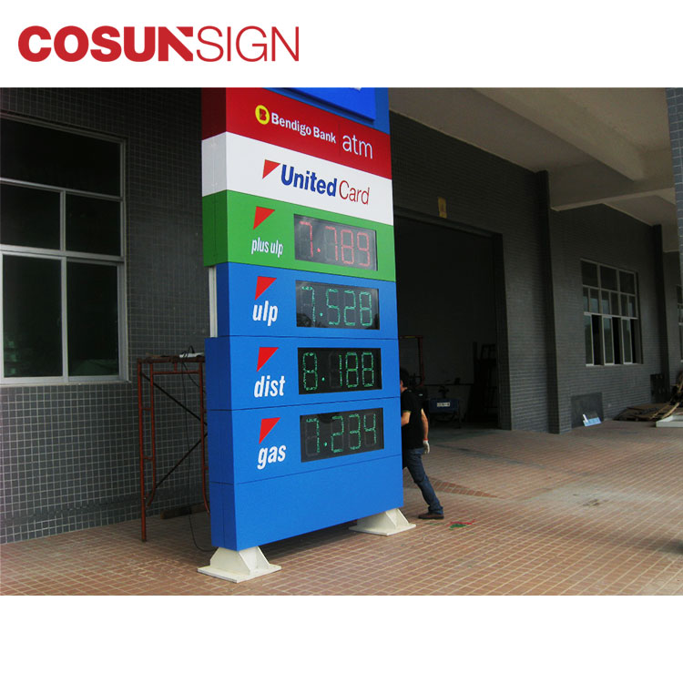 3d outdoor advertising auto stand sign board
