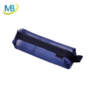 Wholesale School Clear net gauze Pencil bag Transparent mesh Pencil Case  weight