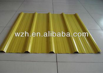 Lemon Yellow Color Coated Galvanized Steel Roof Sheet