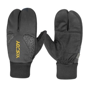 Anti-slip three finger ski mittens unisex men women snowmobile snowboard skateboard gloves manufacture