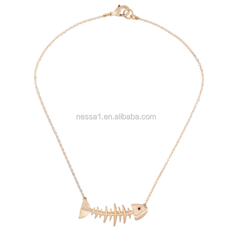 Fashion pendant necklace jewelry fish necklace Wholesale SJ-0108