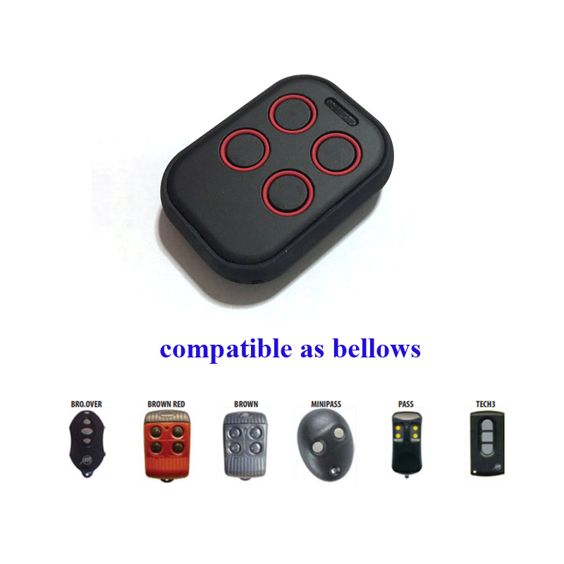compatible allmatic rolling code remote control transmitter door opener multi frequency