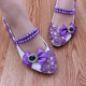 Wholesale Floral Ladies Handmade Purple Lace Butterfly Shoes Bridal Women Wedding Dress Party Shoes 5cm Heel Height