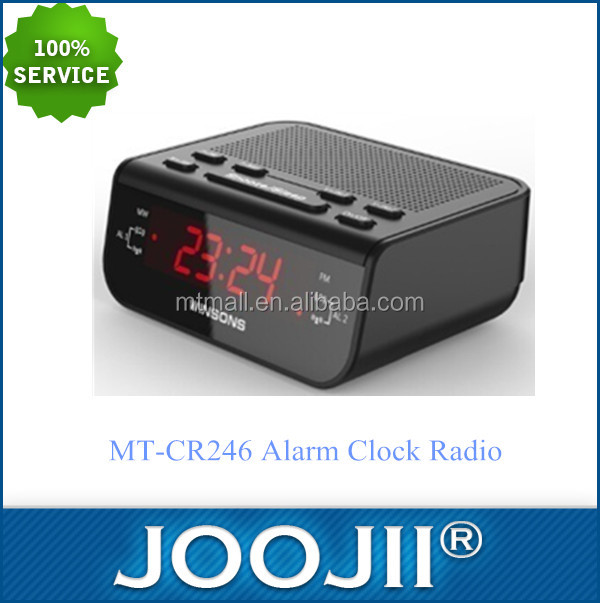 AM/FM alarm clock two way radio with led display