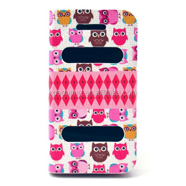 High quality Owl Leather case for <strong>iphone</strong> <strong>4G</strong> 4S stand flip case