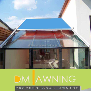 Motorized Sliding Rail Skylight Aluminum Frame Remote Control Awning
