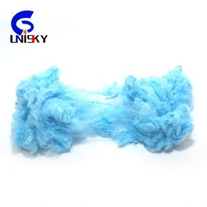 0.9dx32mm solid silicon recycle polyester staple fiber micro fiber