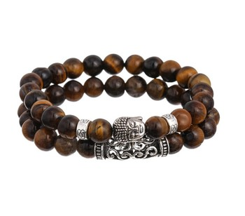 Natural Stone Yoga Beads Antil Silver Buddha Bracelet Custom Beaded Bracelets Relationship
