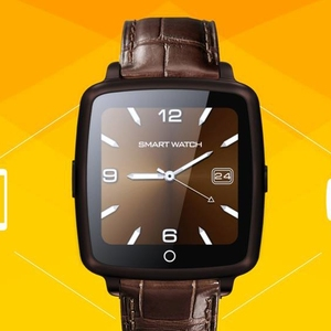 Elegance super slim Smart Watch phone with SIM Card Slot compatible with both Android and iOS smartphone