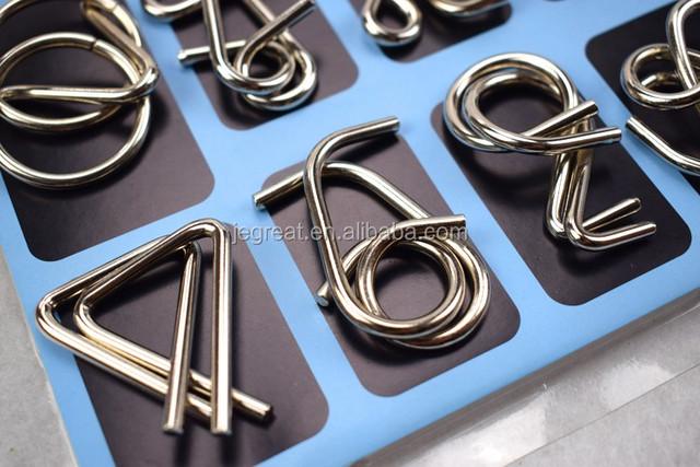 Beetest Casse Tete Chinois Metal M/étal Fil Puzzle Jeu IQ Test Esprit Fer Lien D/ébloquer Chinois Anneau Puzzle Jeu Jouet Casse-t/ête Adultes Enfants Jouets /Éducatifs Style A