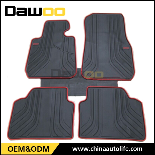 Used For BMW 3 F30 model best red and black rubber car floor mats for cars
