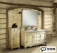 Newstar modular wooden with granite countertops modern rattan bathroom vanity