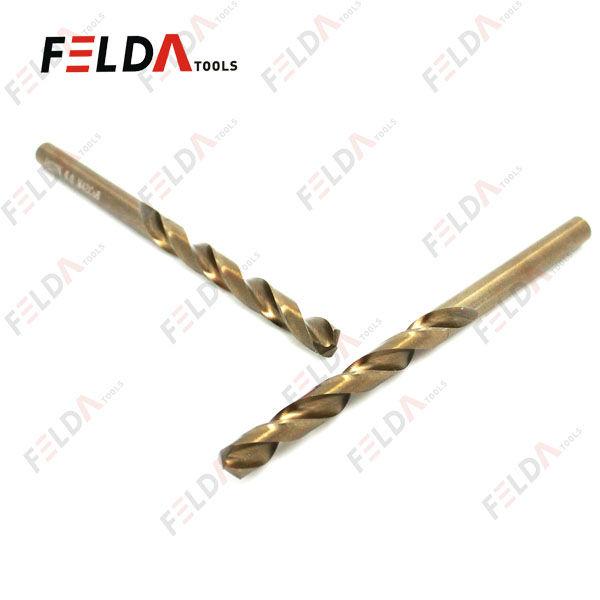 Broca dorada de acero r/ápido HSS con contenido de cobalto para perforar acero inoxidable y acero//metales duros