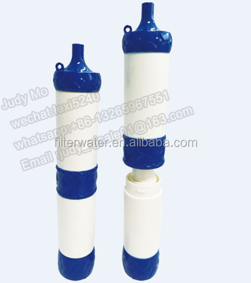 personal outdoor mini wate filter straw , outdoor use water filter straw / pipette ,Pressure water filter pipette