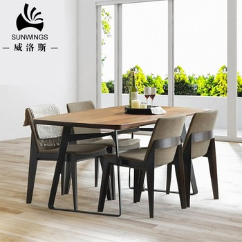 Custom Color Wooden Top Designs Wrought Iron Legs Dining Table Set Used For Restaurant Tables And Chairs