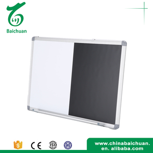 Chalkboard Black Dry Erase Board Magnetic combined white board