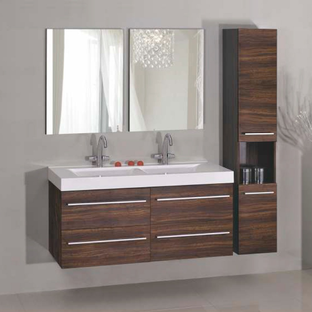 Melamine Finish Double Sink Bathroom