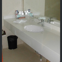 factory customize acrylic artificial marble bath vanity tops