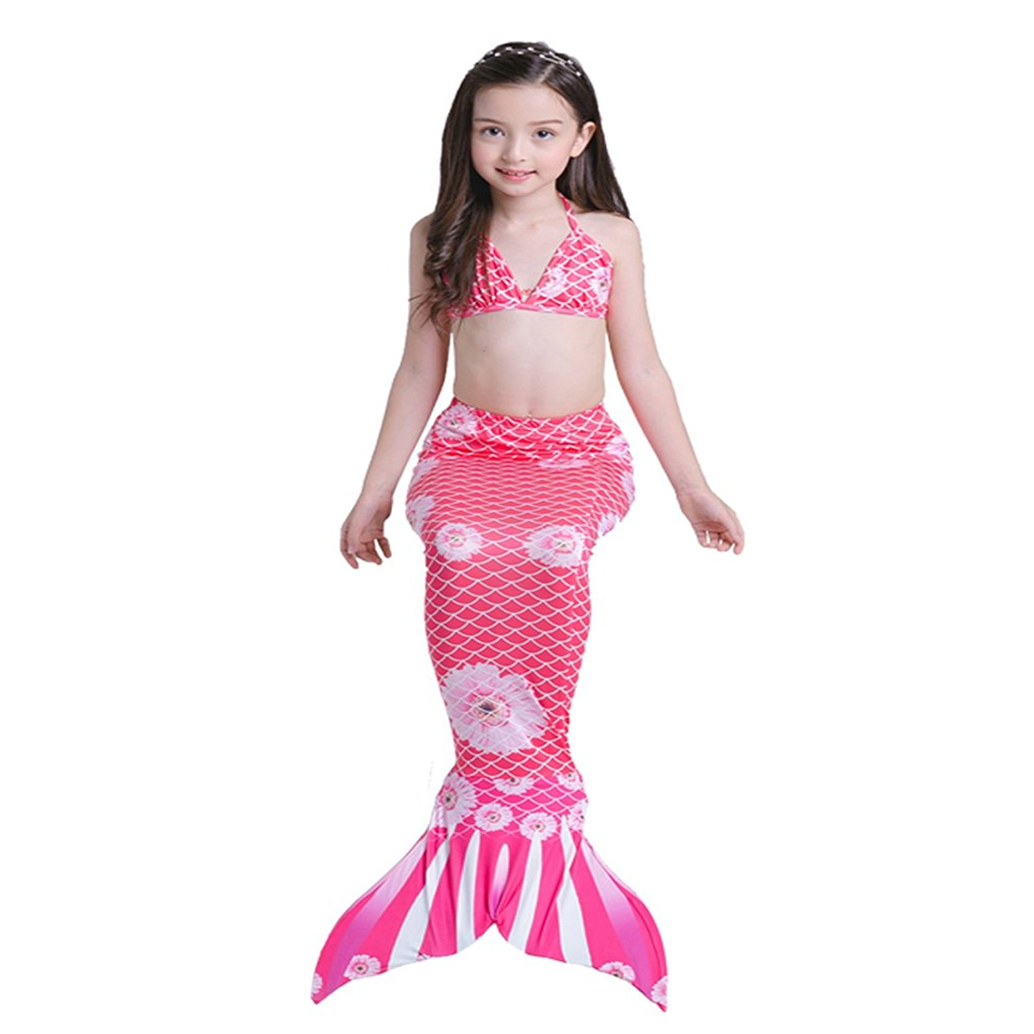 Helpful Girls Mermaid Tails Swimsuit Cosplay Little Swimming Mermaid Tails Kids Children Swimming Wear Flipper Wavy Tops Shorts Dress Sales Of Quality Assurance Bodysuits & One-pieces