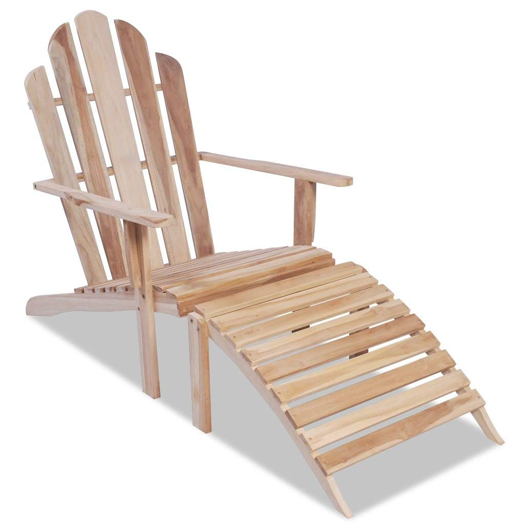 Get quotations · licongus teak adirondack chair garden furniture durable and strong adirondack chair and thus suitable for outdoor
