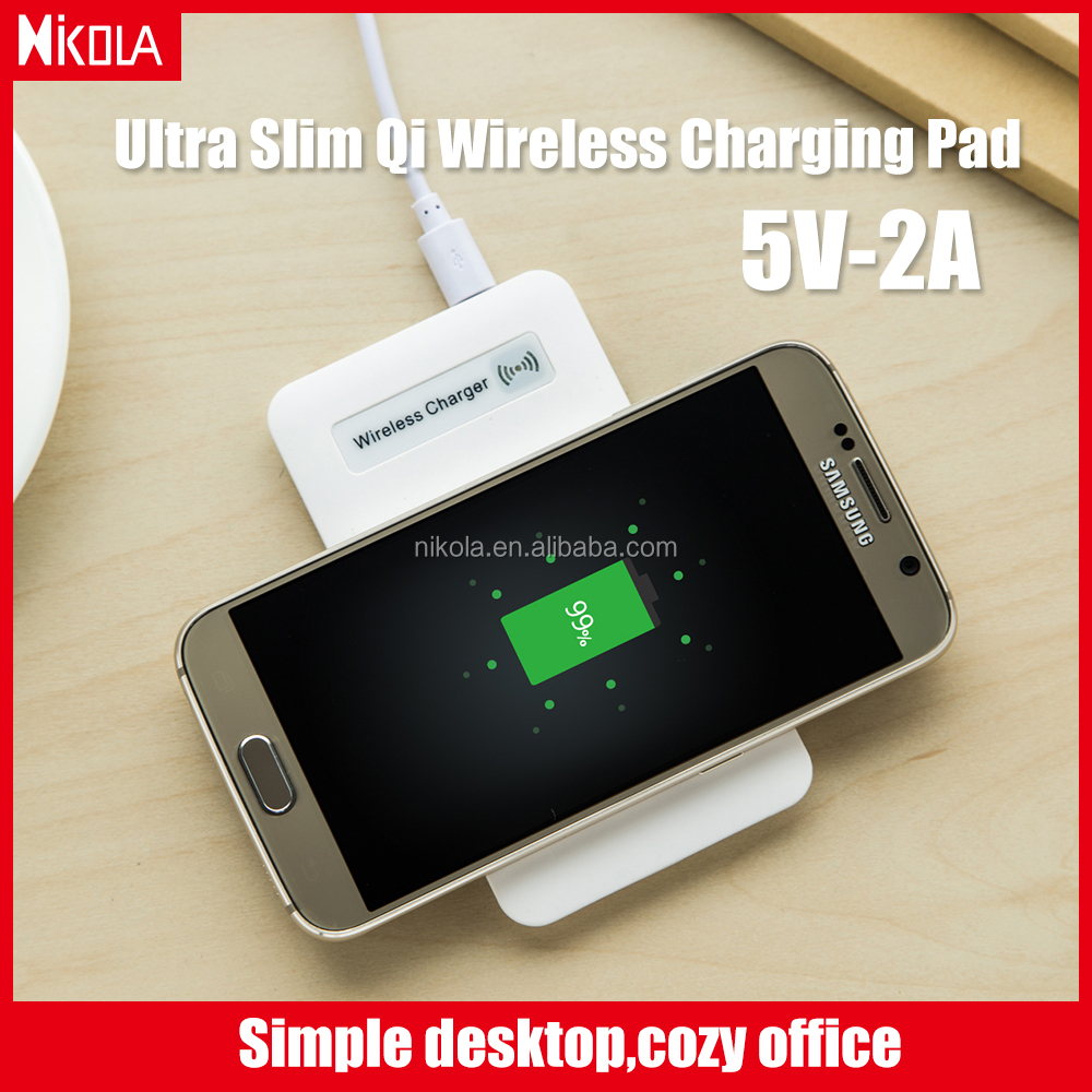 Supply Super Slim Black/White for Samsung Portable Mobile Phone Charger Wireless Charging pad Wireless charger